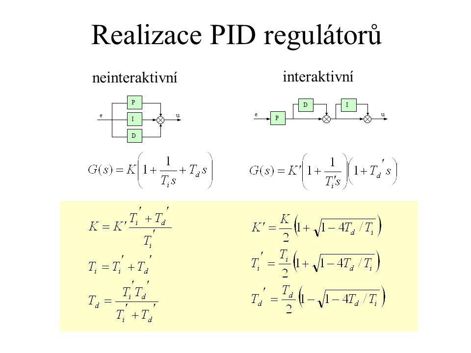Realizace PID regulátorů