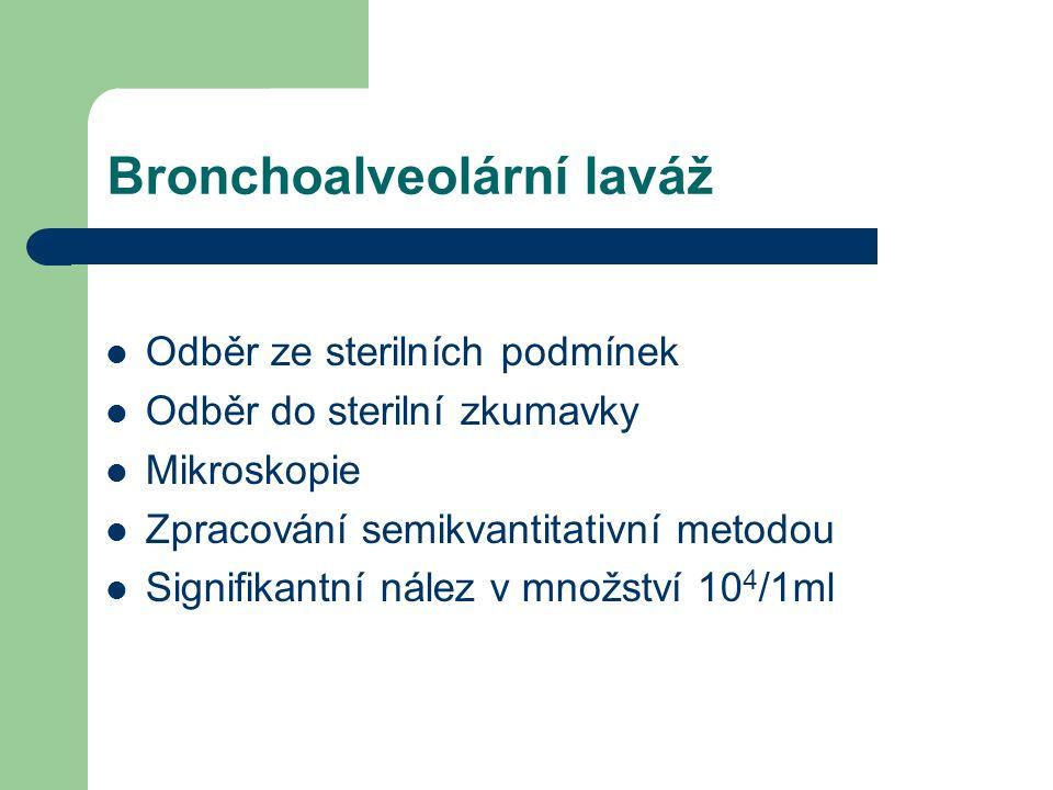 Bronchoalveolární laváž