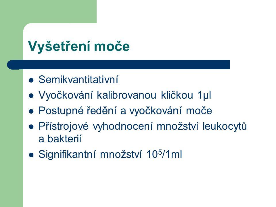 Vyšetření moče Semikvantitativní Vyočkování kalibrovanou kličkou 1µl