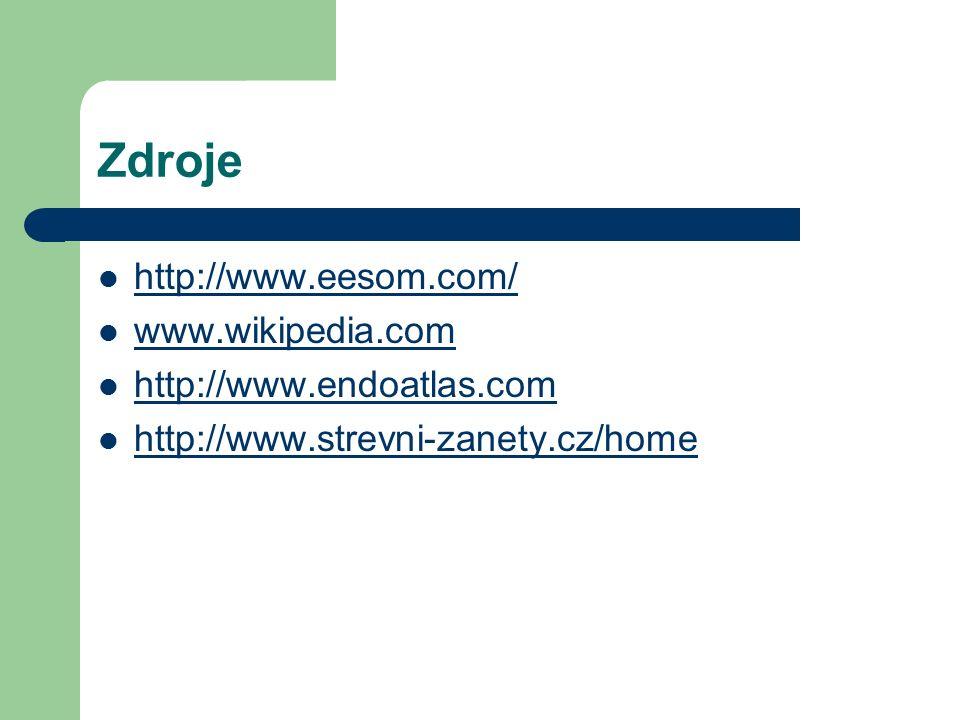 Zdroje http://www.eesom.com/ www.wikipedia.com