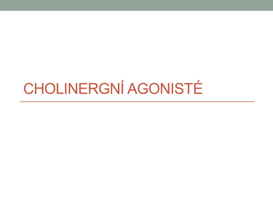 Cholinergní agonisté