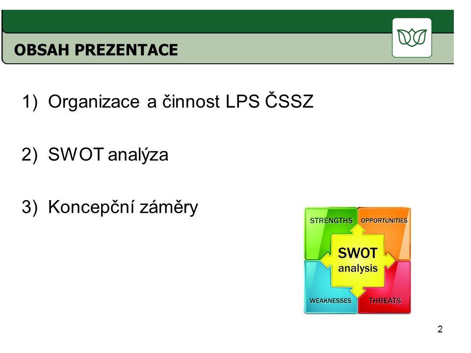 Organizace a činnost LPS ČSSZ SWOT analýza Koncepční záměry