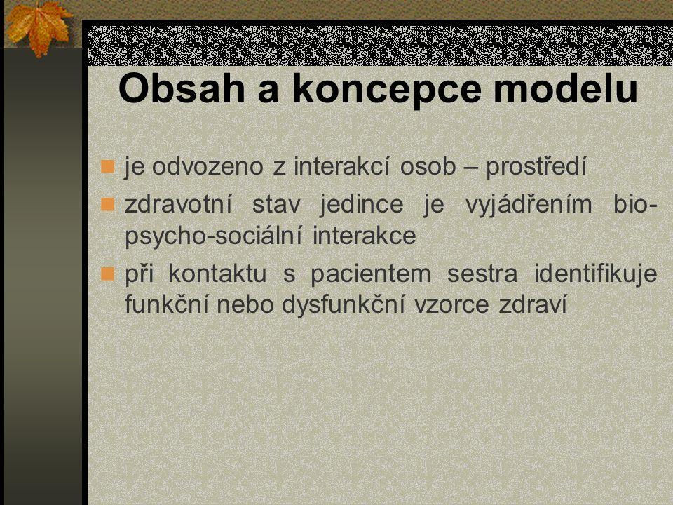 Obsah a koncepce modelu
