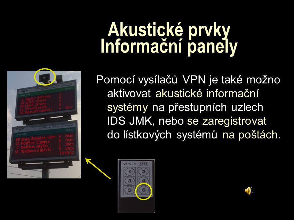 Akustické prvky Informační panely