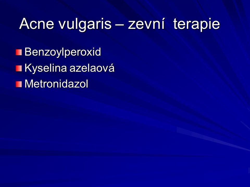Acne vulgaris – zevní terapie