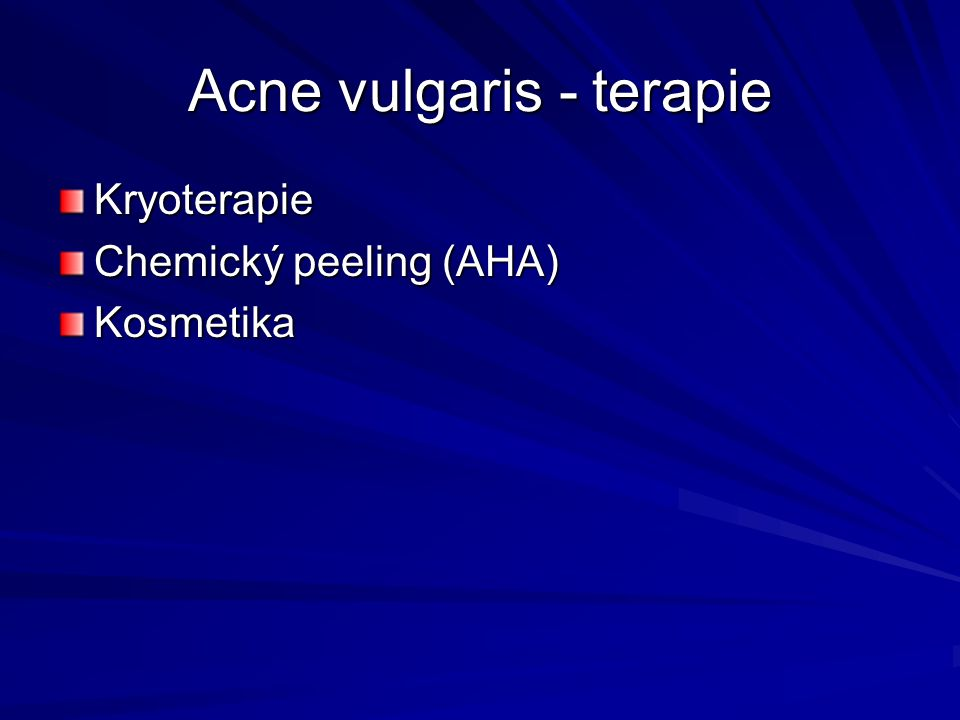 Acne vulgaris - terapie