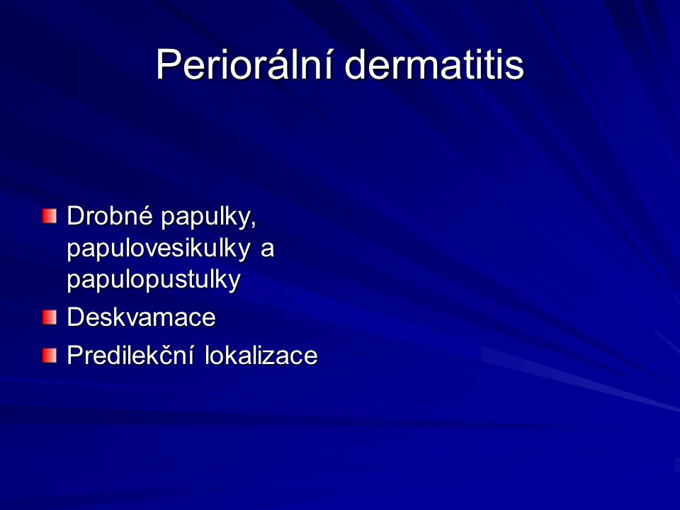 Periorální dermatitis