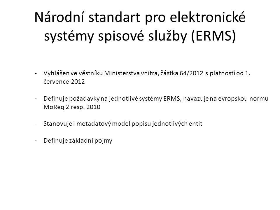Národní standart pro elektronické systémy spisové služby (ERMS)