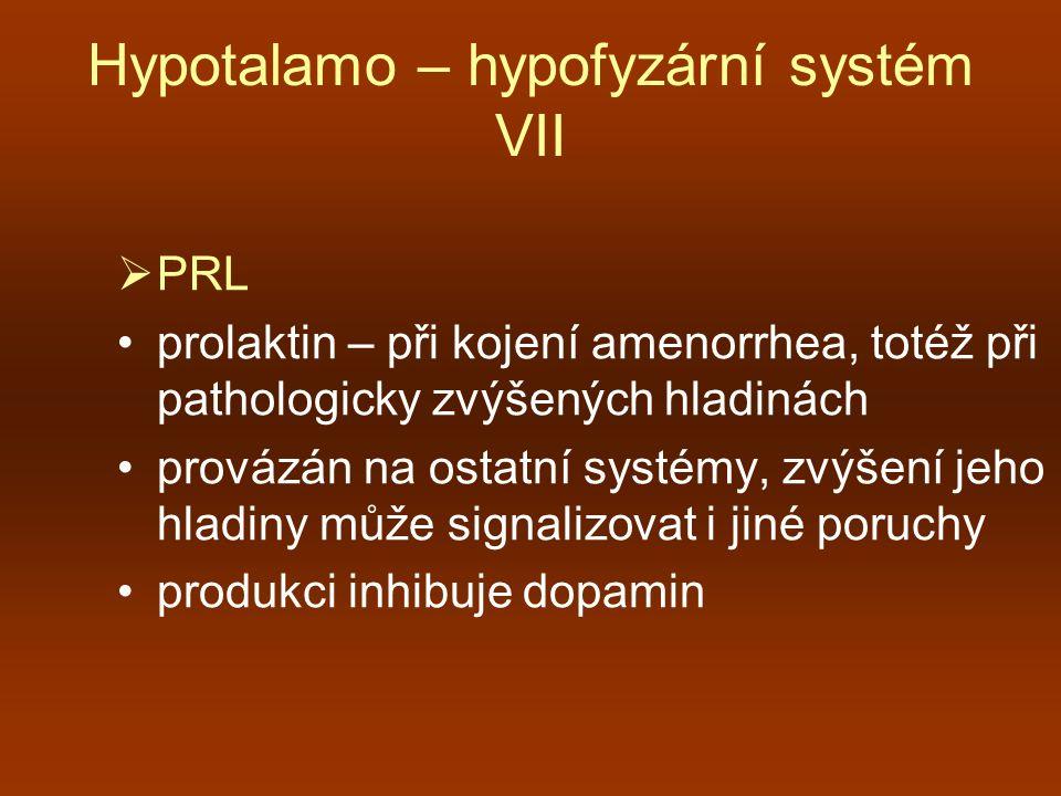 Hypotalamo – hypofyzární systém VII