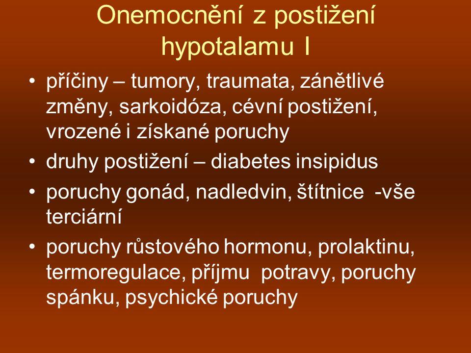 Onemocnění z postižení hypotalamu I