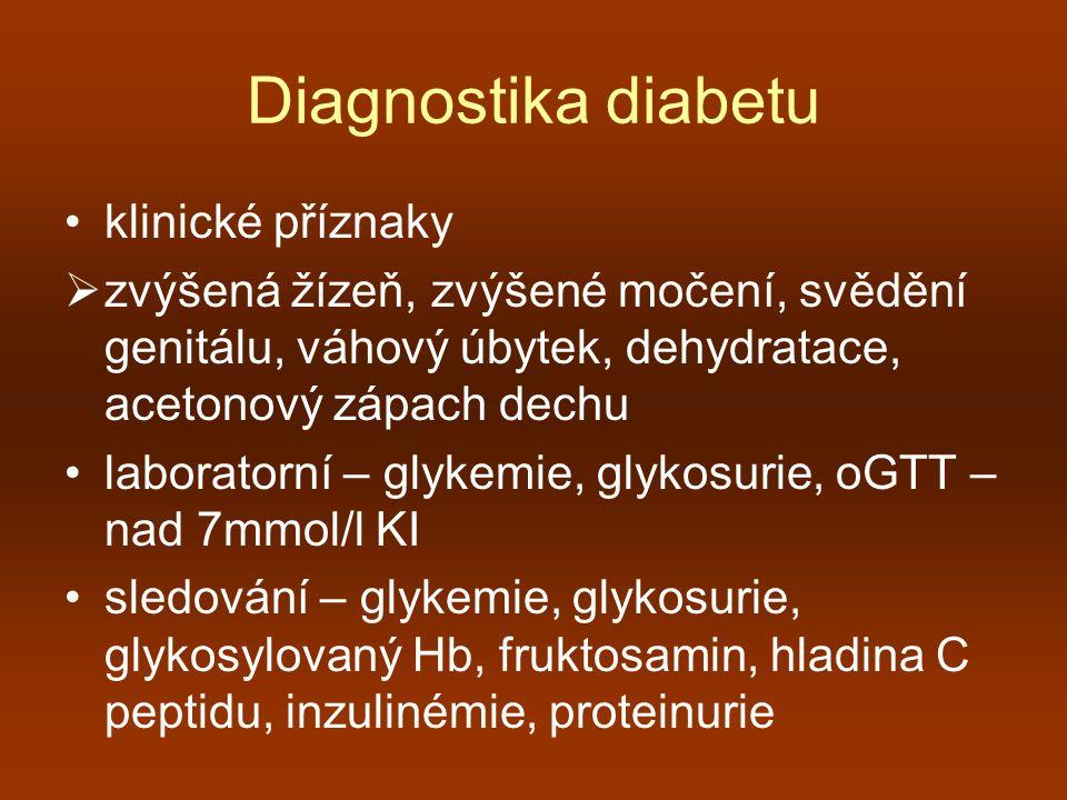 Diagnostika diabetu klinické příznaky