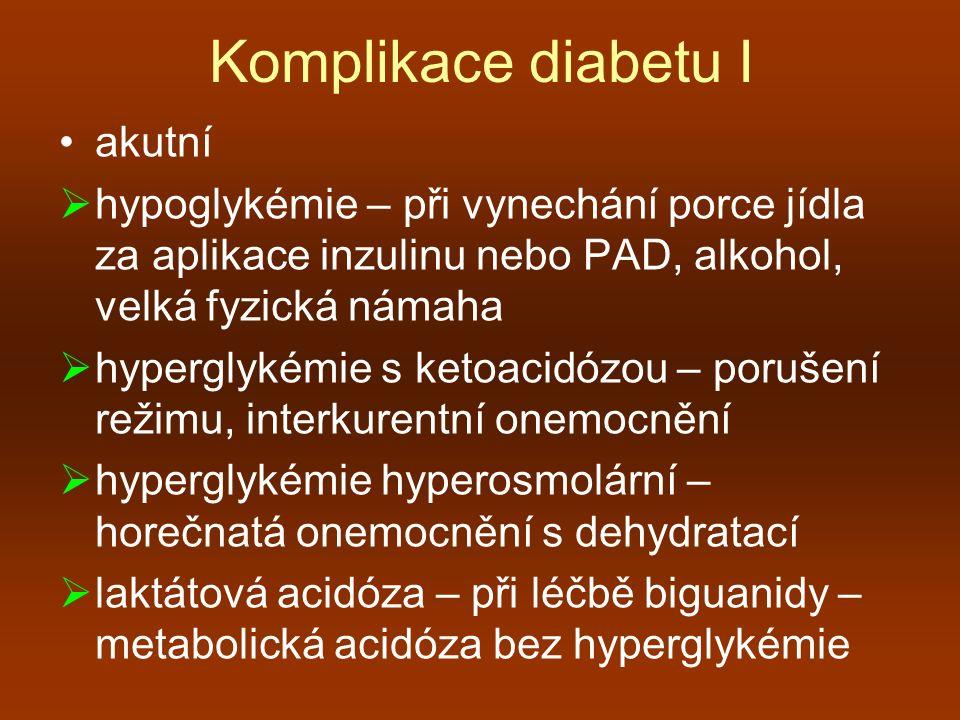 Komplikace diabetu I akutní