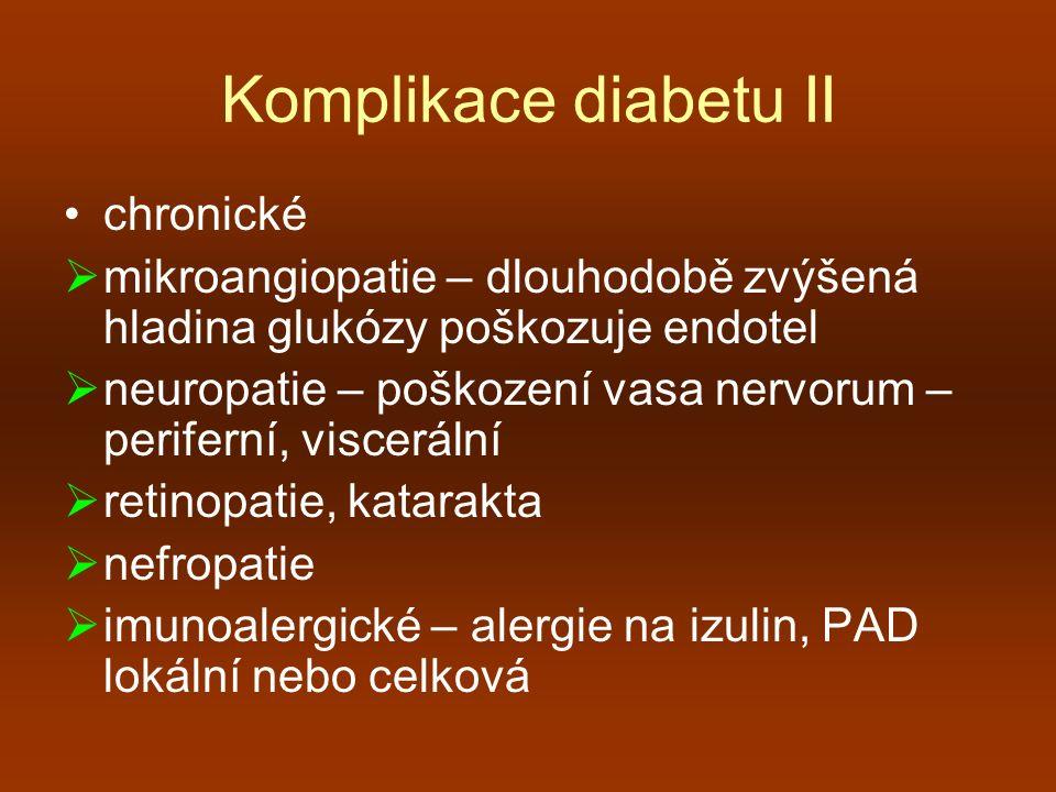 Komplikace diabetu II chronické