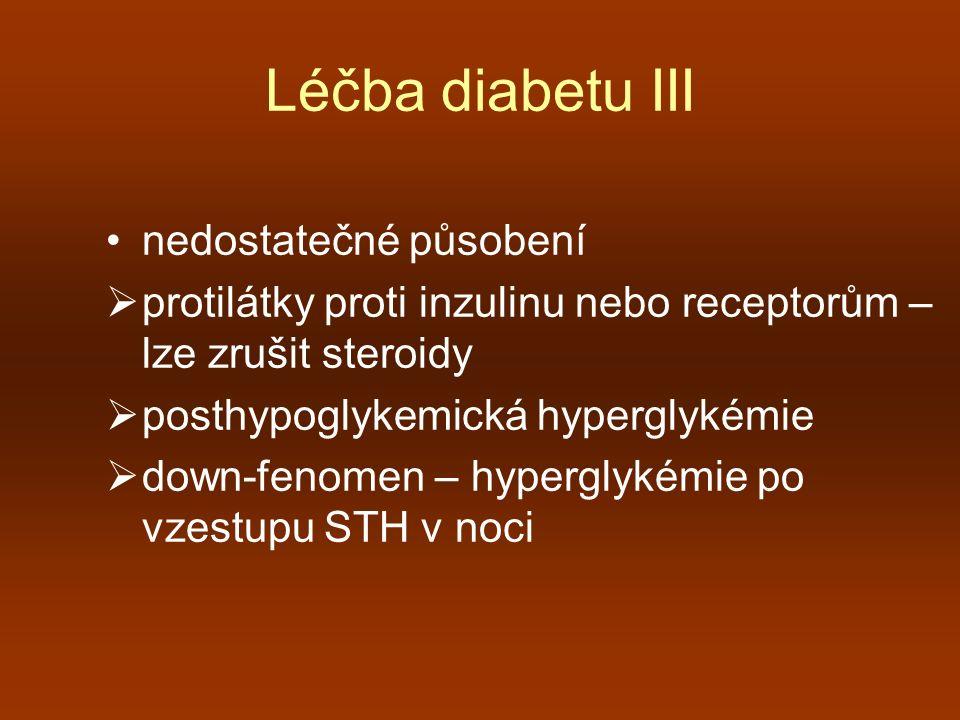 Léčba diabetu III nedostatečné působení