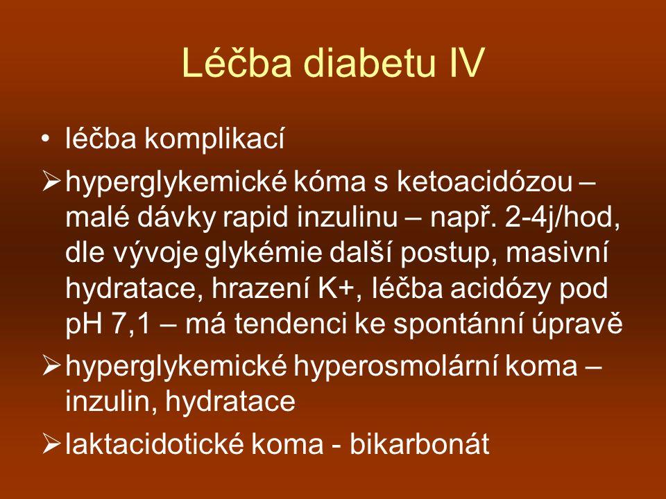 Léčba diabetu IV léčba komplikací