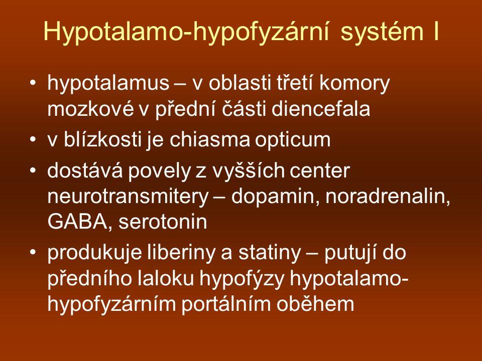 Hypotalamo-hypofyzární systém I
