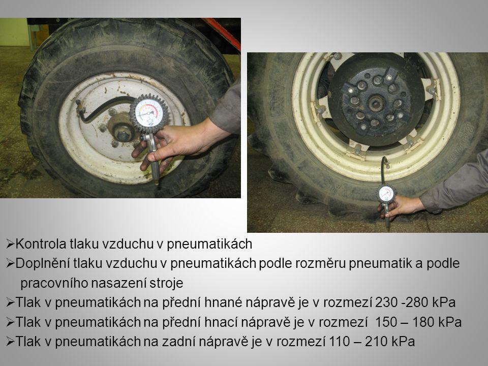 Kontrola tlaku vzduchu v pneumatikách