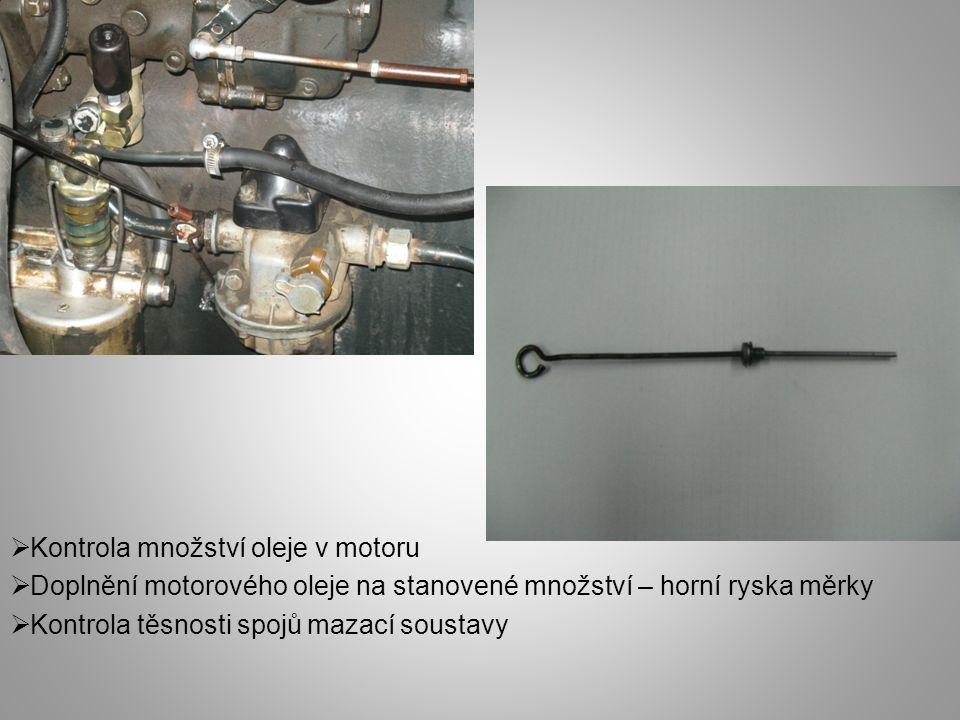 Kontrola množství oleje v motoru