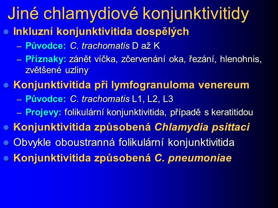 Jiné chlamydiové konjunktivitidy