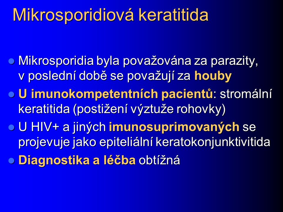 Mikrosporidiová keratitida