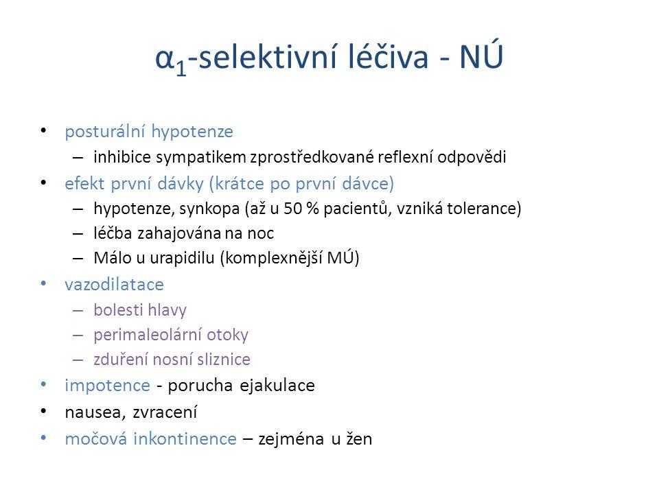 α1-selektivní léčiva - NÚ
