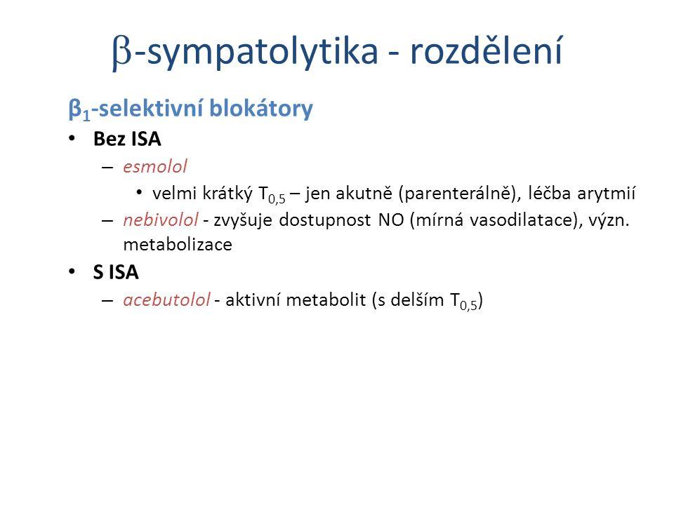 -sympatolytika - rozdělení