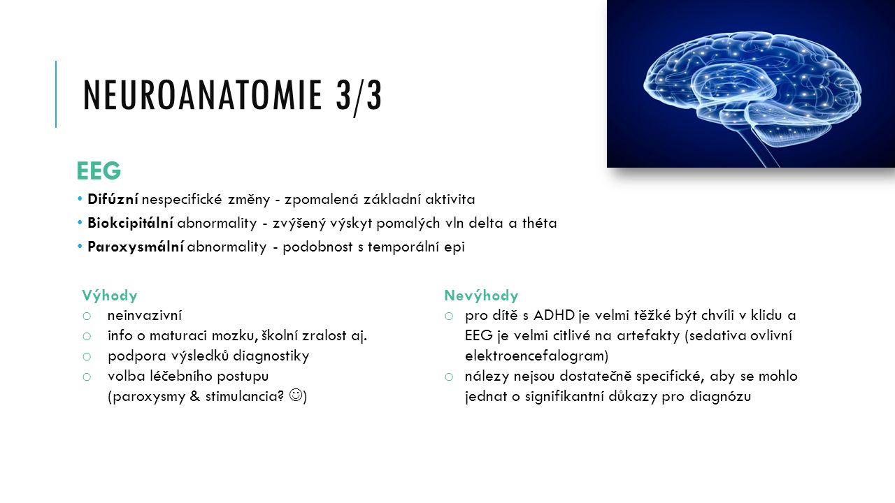 Neuroanatomie 3/3 EEG. Difúzní nespecifické změny - zpomalená základní aktivita.