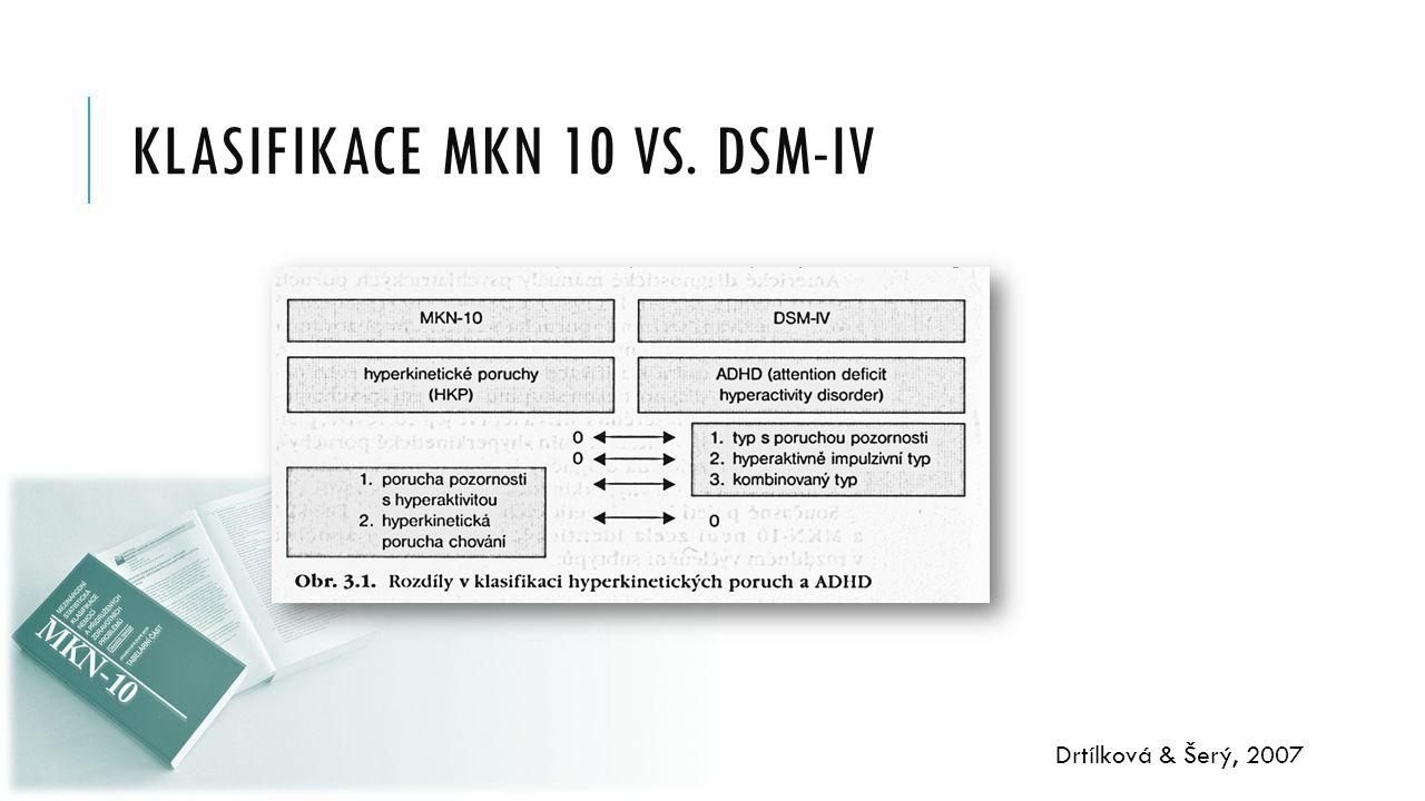 KLASIFIKACE MKN 10 vs. DSM-IV