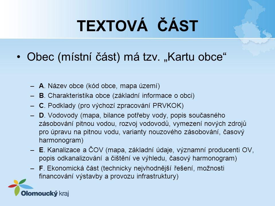 """TEXTOVÁ ČÁST Obec (místní část) má tzv. """"Kartu obce"""