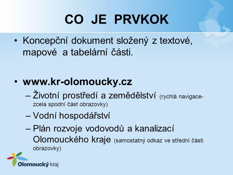 CO JE PRVKOK www.kr-olomoucky.cz