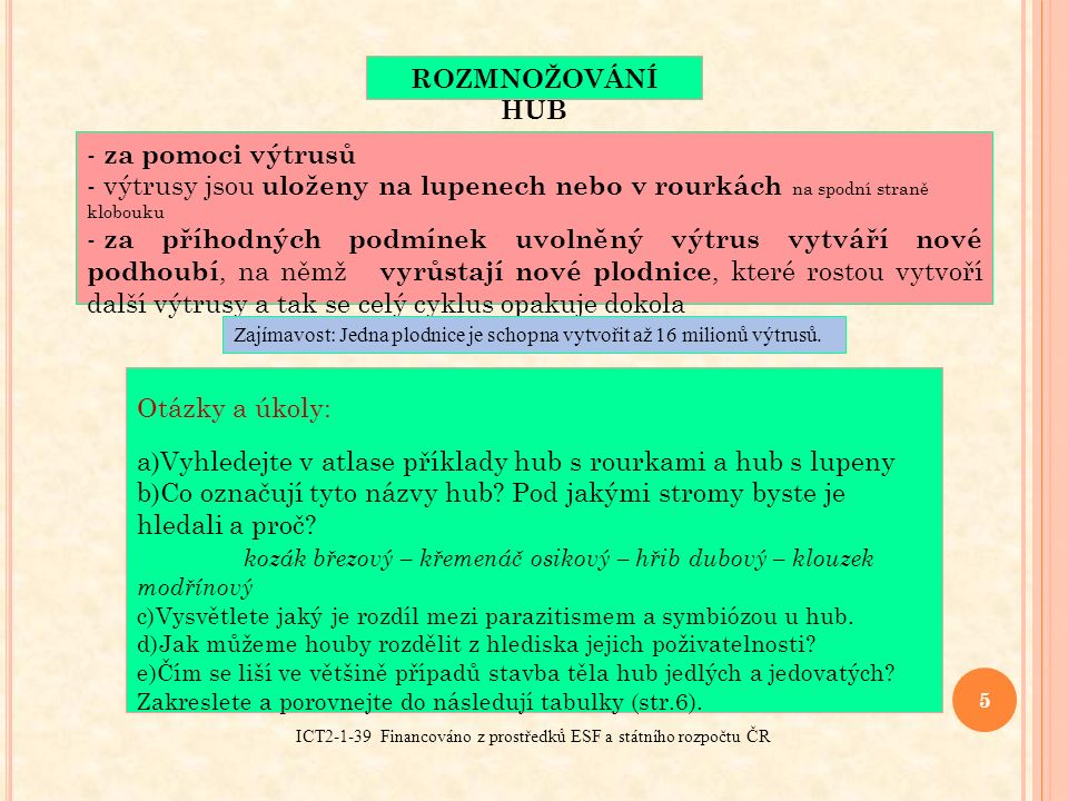 ICT2-1-39 Financováno z prostředků ESF a státního rozpočtu ČR