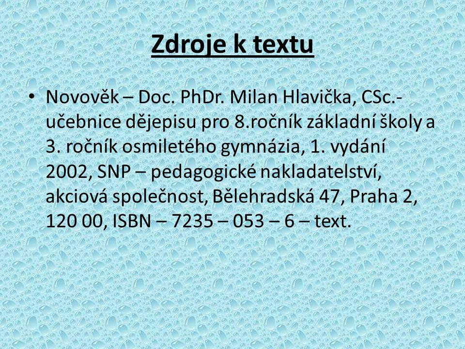 Zdroje k textu