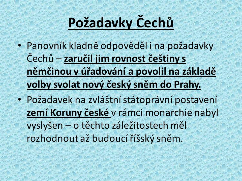 Požadavky Čechů