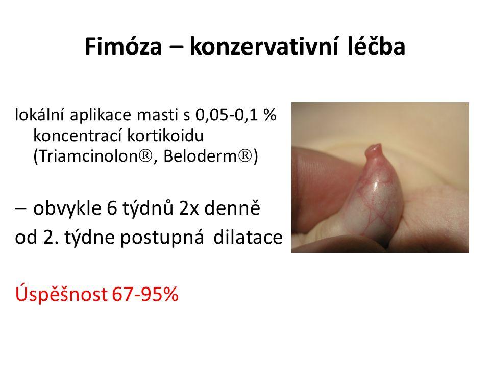 Fimóza – konzervativní léčba