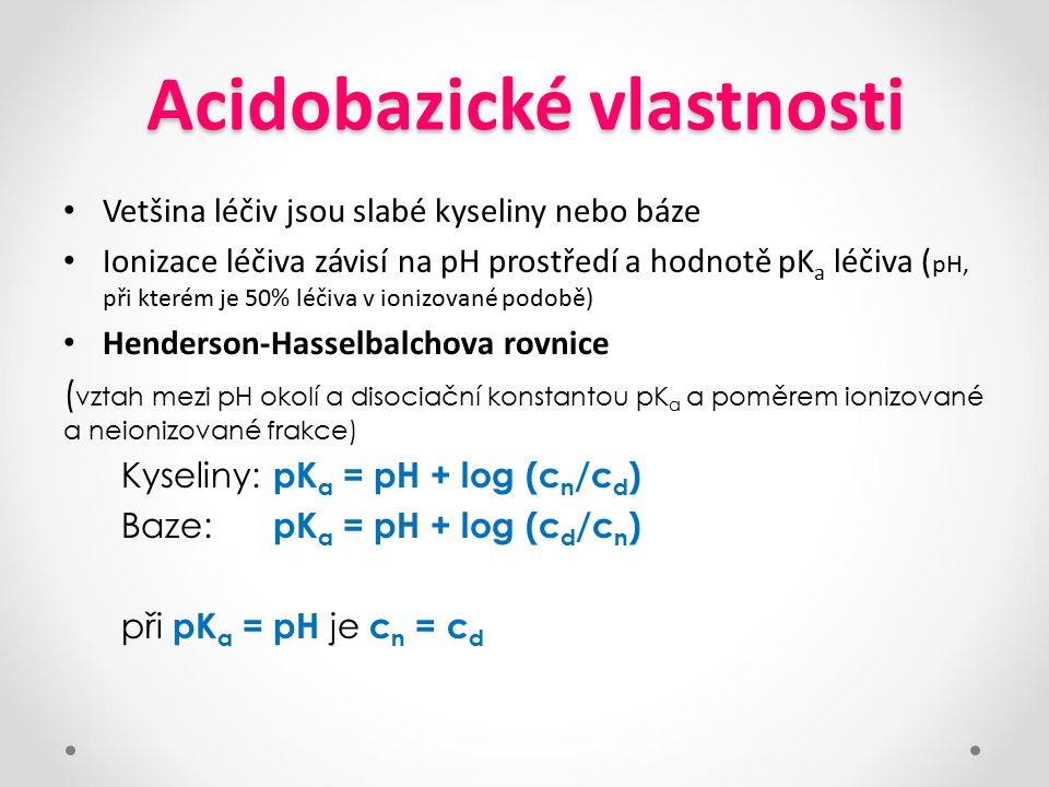 Acidobazické vlastnosti