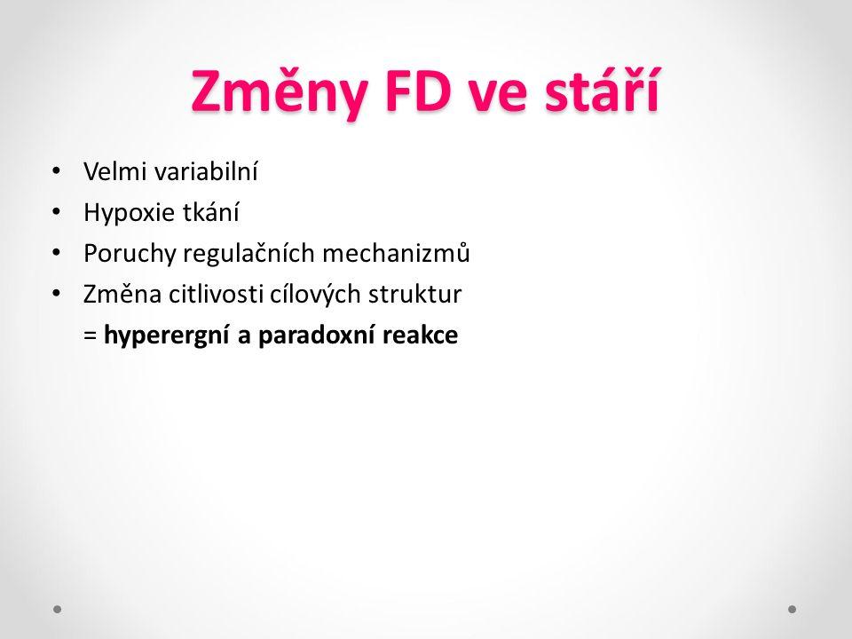 Změny FD ve stáří Velmi variabilní Hypoxie tkání