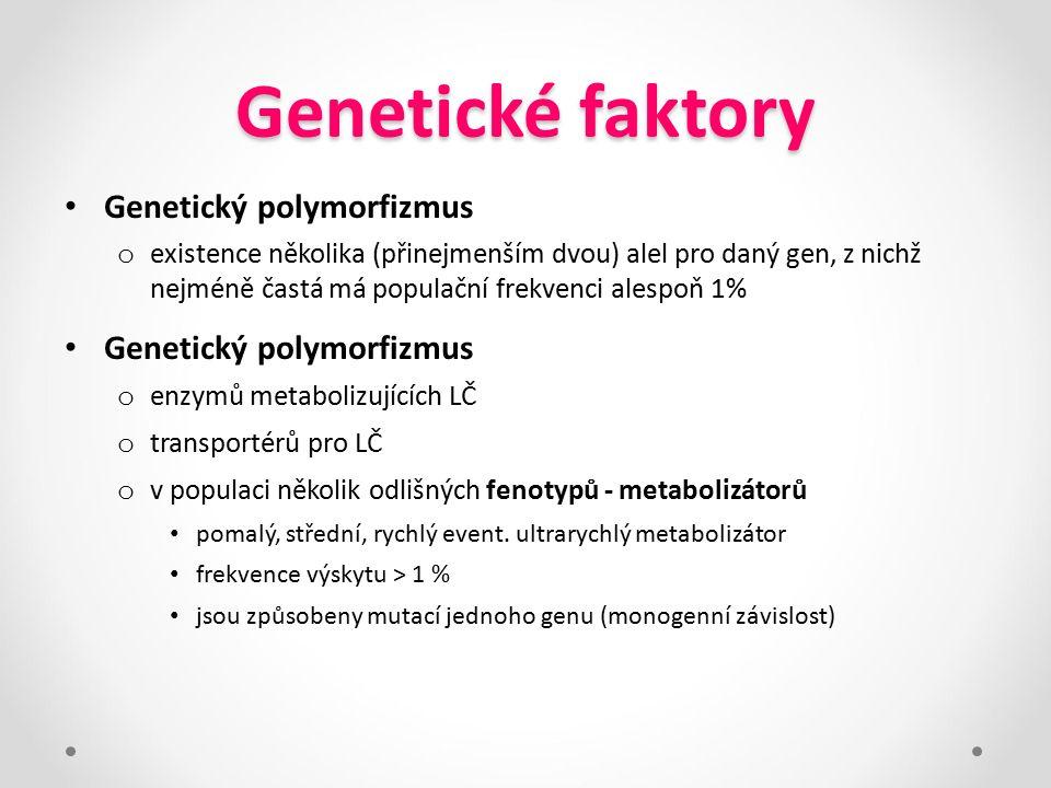 Genetické faktory Genetický polymorfizmus