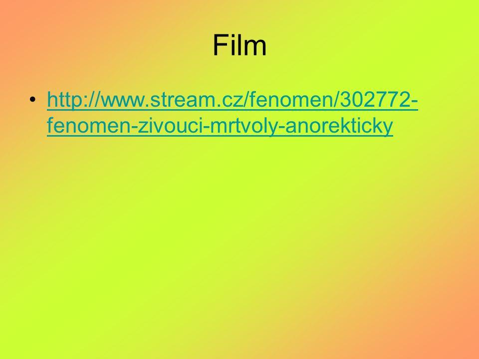Film http://www.stream.cz/fenomen/302772-fenomen-zivouci-mrtvoly-anorekticky