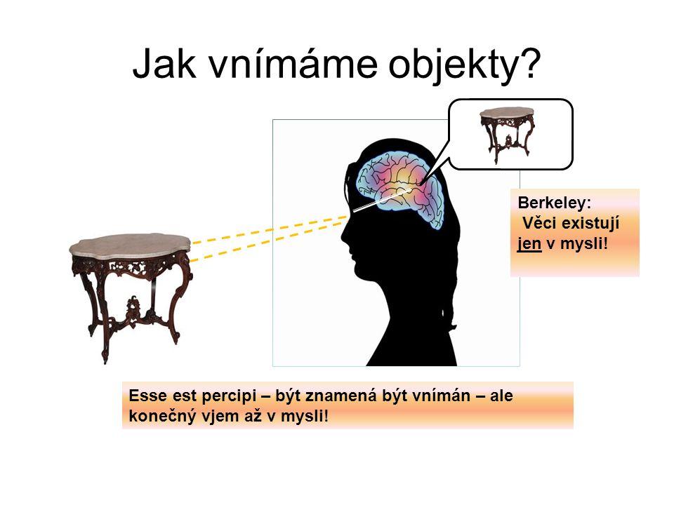 Jak vnímáme objekty Berkeley: Věci existují jen v mysli!