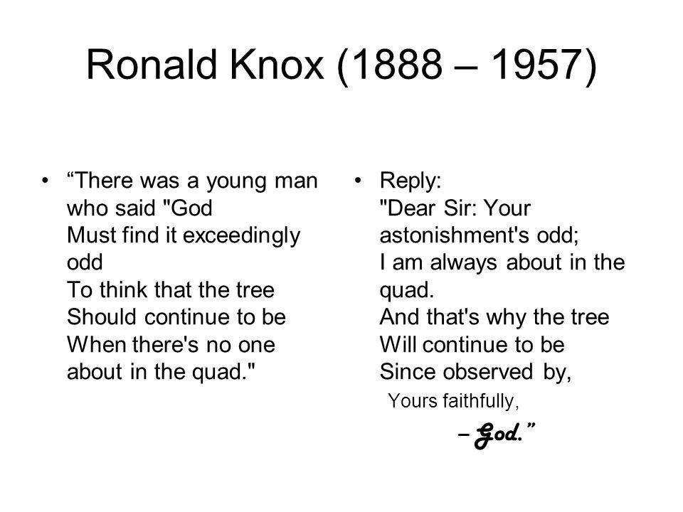 Ronald Knox (1888 – 1957)