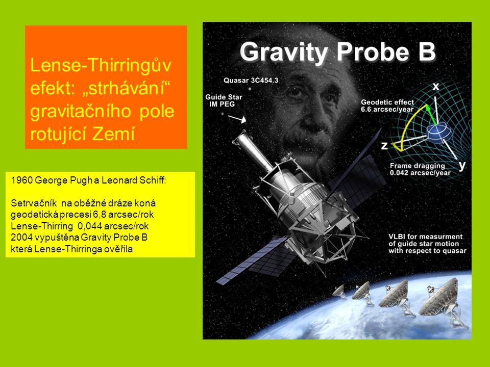 """Lense-Thirringův efekt: """"strhávání gravitačního pole rotující Zemí"""
