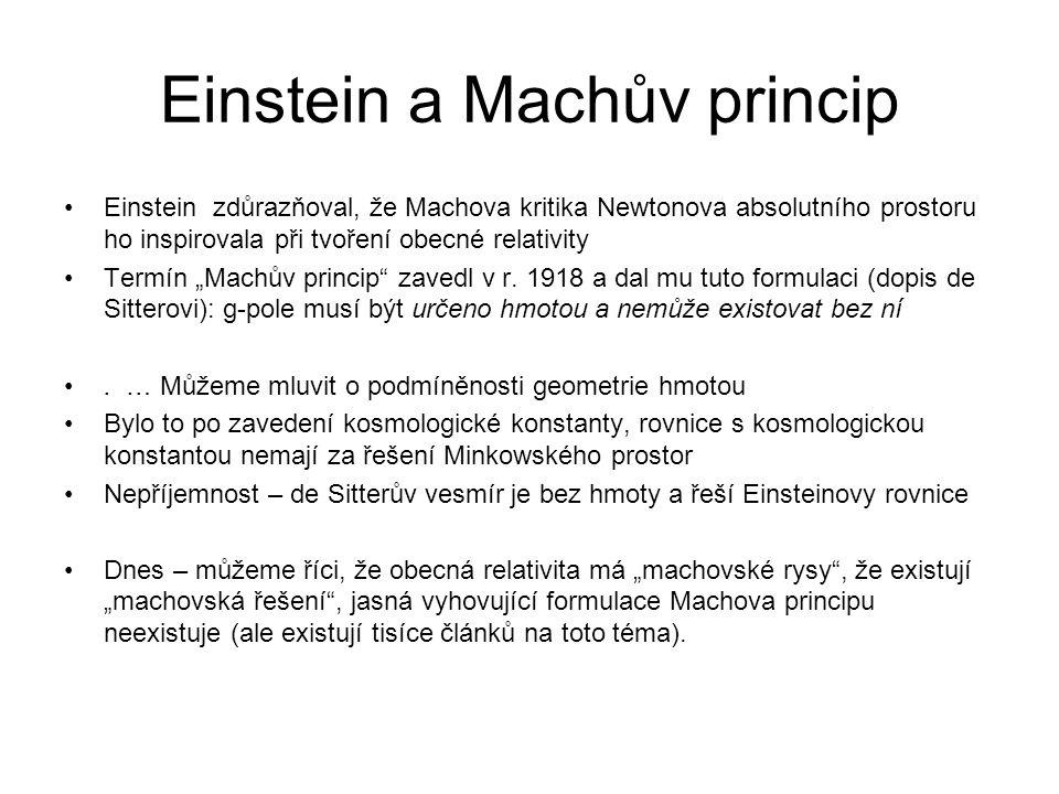 Einstein a Machův princip