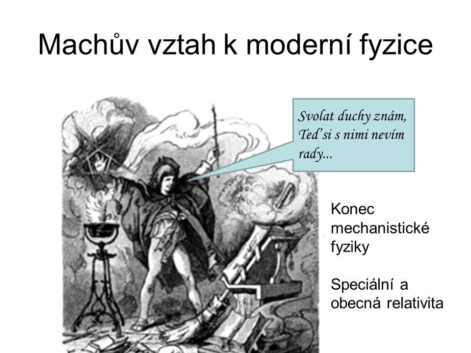 Machův vztah k moderní fyzice