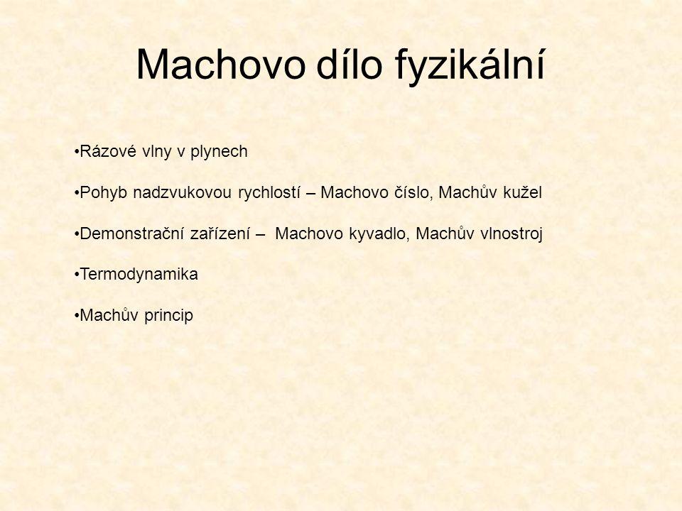Machovo dílo fyzikální