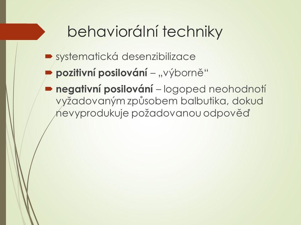 behaviorální techniky