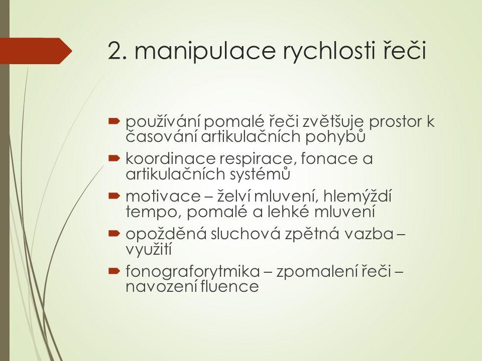 2. manipulace rychlosti řeči