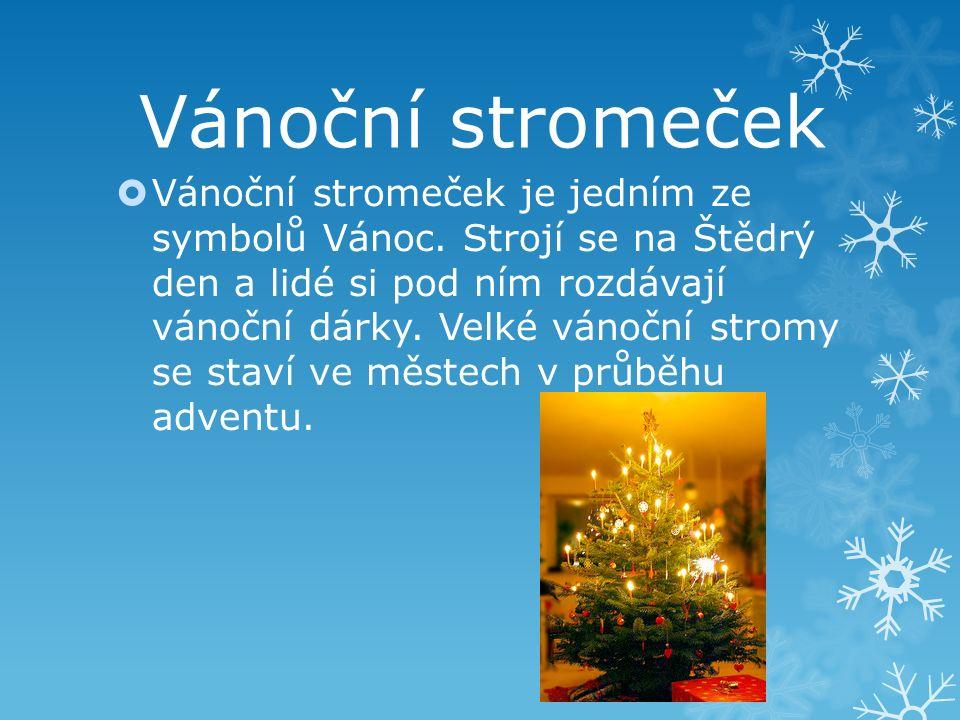 Vánoční stromeček je jedním ze symbolů Vánoc