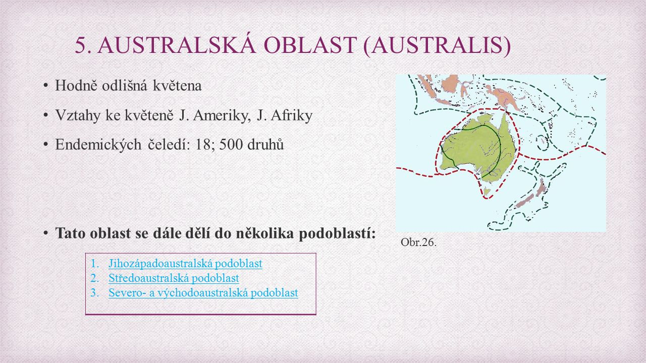 5. AUSTRALSKÁ OBLAST (AUSTRALIS)