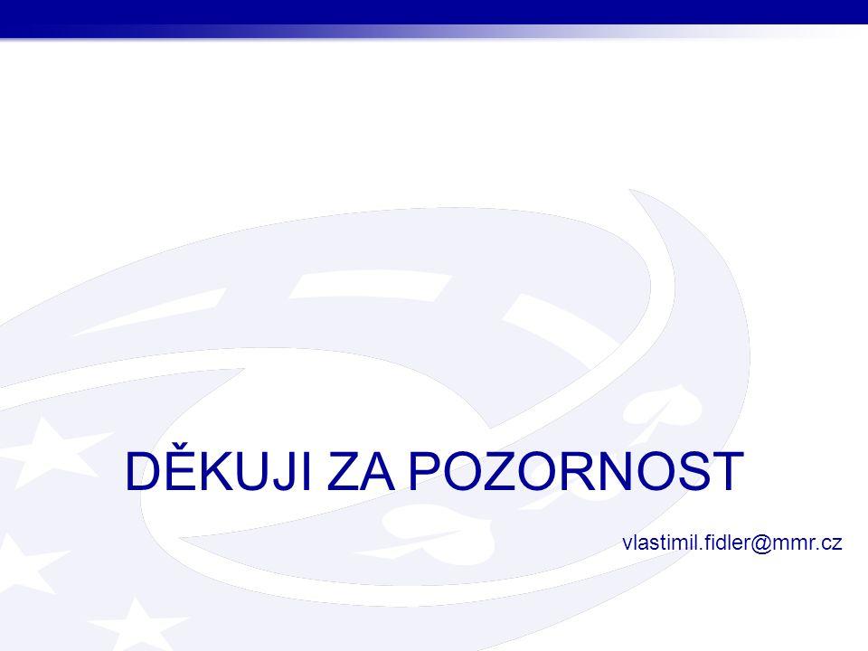 DĚKUJI ZA POZORNOST vlastimil.fidler@mmr.cz