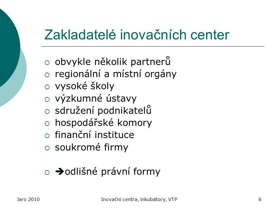 Zakladatelé inovačních center